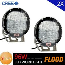 CREE 2X 96W Flood Beam LED Work Light 8000lm Fog Lamp Offroad Boat 4WD Driving