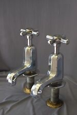 CHROME BATH TAPS ART DECO ANTIQUE  BATHROOM TAPS RECLAIMED & FULLY REFURBISHED