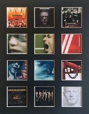 "RAMMSTEIN  DISCOGRAPHY 14"" BY 11"" LP COVERS PICTURE MOUNTED READY TO FRAME"