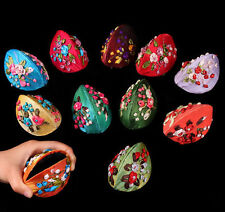 10PCS Mix Color Chinese Handmade Silk Flower Jewelry Ring Box Bag Coin Bag Purse