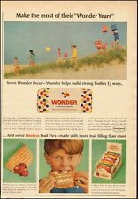 1966 Vintage ad for Wonder Bread`Children on the beach`Loaf of Bread (061214)