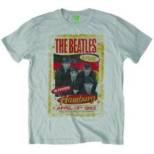 The Beatles Hamburg 1962 Poster T-Shirt Unisex Size Taille L ROCK OFF