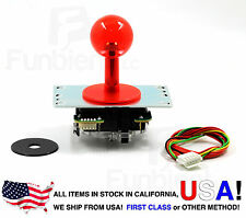 Sanwa Original Japan Arcade Joystick JLF-TP-8YT-SK Translucent Clear RED Ball