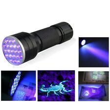 21 LED Flashlight Mini UV Ultra Violet Blacklight Aluminum Torch Light Lamp NEW