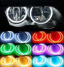 Multi-Color Cotton RGB LED Halo Rings For E46 NON Porjector Devil Angel Eyes DRL