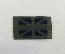 Union Jack Flag, DZ, TRF, AFB, Patch, Badge, Flash, Army, Military, Black