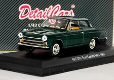 FORD CORTINA MK1 1963 COUPE GREEN DETAIL CARS ART 370 1/43