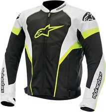 ALPINESTARS T-GP PLUS AIR Textile Motorcycle Jacket (Black/White/Yellow) Medium