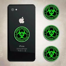 Zombie Response Team Green iphone Decal Phone Arcade Biohazard Sticker Cell
