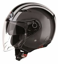CASCO MOTO JET VISIERINO AIROH CITY ONE FLASH ANTRACITE METALLIZZATO TG XL