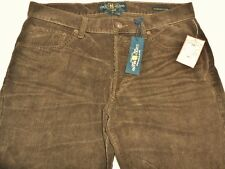 Lucky Brand 221 Original Straight Mens 32x32 Corduroy Pants Brown Button Fly NEW