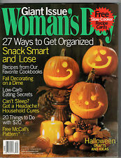 Woman's Day 2004 Halloween Crafts Slow Cooker Recipe Cards Leah Remini Gourds
