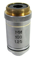 LOMO 100X SEMI-PLAN ACHROMAT OIL IMMERSION MICROSCOPE OBJECTIVE