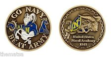 "GO NAVY BEAT ARMY NAVAL ACADEMY 1.75"" CHALLENGE COIN"