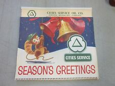 Cities Service Calender Westminster Maryland 1965 Holiday Greetings Christmas