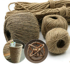 20m Natural Burlap 1mm Twisted Rope Jute Craft Making Linen Twine Hemp Cord