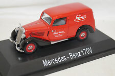 Schuco Mercedes Benz 170V KAstenwagen Sonderedition 02257 1/43 rot limited