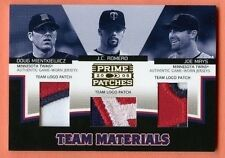 Mientkiewicz Romero Mays 2005 Prime Patches TRIPLE Game Used Patch SP/74 Twins