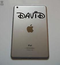 """Nome personalizzato adesivo graffe Waltz font iPad Mini In Vinile Decalcomania Tablet Bambini 7 """""""