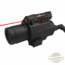 Tactical Red Laser Sight LED Flashlight Combo Weaver Mount w/20mm Rail
