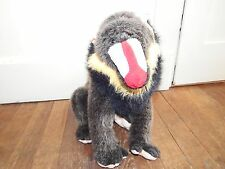 """Vintage WWF 13"""" babuino Suave Felpa Figura Juguete Mono De Excelente Calidad 1986"""