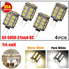 4X G4 LED 27 SMD 5050 White Home Car cabinet RV Marine Boat Bulb lamp US DC 12V