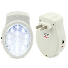Emergency Automatic Power Failure Outage Rechargeable 13 LED Light Lamp US Plug