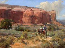 Art Print Cowboy Oil painting Picture Printed on canvas 16X20 Inches P233