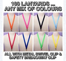 Car Boot Sale Job Lot Wholesale 100 20mm wide neck Lanyards strap ANY COLOUR MIX