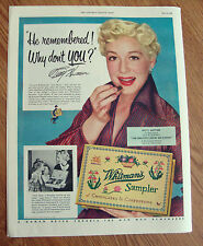 1952 Whitman's Sampler Candy Ad Movie Hollywood Star Betty Hutton