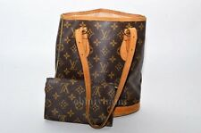 Authentic Louis Vuitton Petit Bucket PM Shoulder Bag and Pouch Monogram TA3225-%