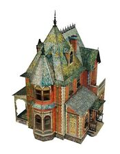 Cardboard model kit. Victorian doll house. Scale about 1/14. Type I.