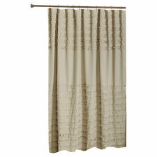 SHABBY VINTAGE-LOOK RUFFLED SHOWER CURTAIN : COLOR-LINEN