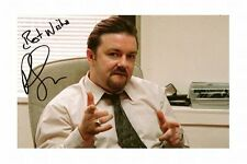 RICKY GERVAIS - THE OFFICE AUTOGRAPHED SIGNED A4 PP POSTER PHOTO