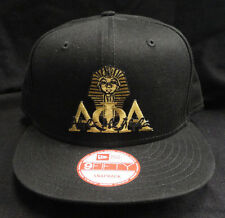 Alpha Phi Alpha Black New Era NE400 Snap Back with Old Gold Letters Sphinx Patch