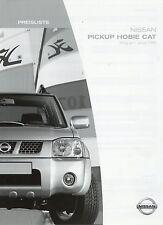 Preisliste Nissan Pickup Hobie Cat 1.1.2005 Preise Auto PKWs price list Japan
