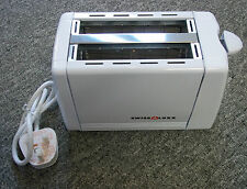 Low Wattage Swiss Luxx 2 Slice Tiny White Toaster For Caravan Motorhome