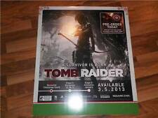 Tomb Raider Display Poster RARE Mint Corners PS3 Merchandise Fast WorldWide Ship
