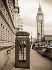 ART PRINT POSTER PHOTO DT LONDON PHONE BOX AT BIG BEN LFMP0005