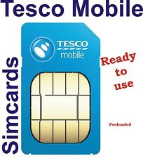 Tesco Mobile Sim 4G / 3G (With £30 FREE PAYG Credit) Triple Sim - Fit Any Device