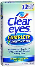 Clear Eyes Complete 7 Symptom Relief Eye Drops 0.50 oz (Pack of 2)