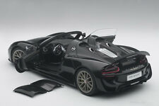 Autoart PORSCHE 918 SPYDER WEISSACH PACKAGE BLACK MET.  2013 COMPOSITE 1/18 New