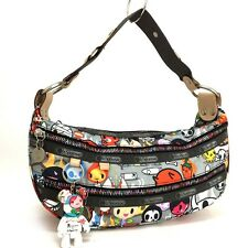 100% Authentic LeSportsac Tokidoki for Colorful Zippers Hobo Hand Bag / 3103y