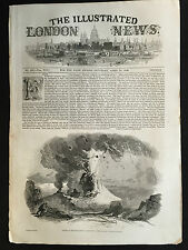 Front Cover of The Illustrated London News April 18th 1846, Vesuvius Print