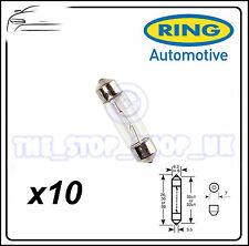 TRADE PACK of 10 Ring 3W Festoon Interior Bulb 12v 3v R256