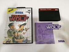 Sega Master System - Operation Wolf - Spedizione GRATIS importi   25 euro