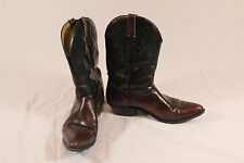 Men's Silver Rebel Mahogony and Black Cowboy Boots - Size 13 (13EC7455066418)