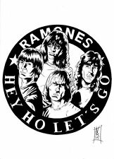 Parche imprimido, Iron on patch, /Textil sticker, Pegatina/ - Ramones
