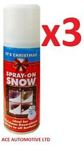 3 x Xmas Snow Spray Artificial Fake Flake Craft Paint Stencil Decoration Festive