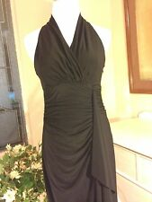 EUC Evan Picone Little Black Party Dress T-Back,Ruched For Flattering Fit! Sz 6